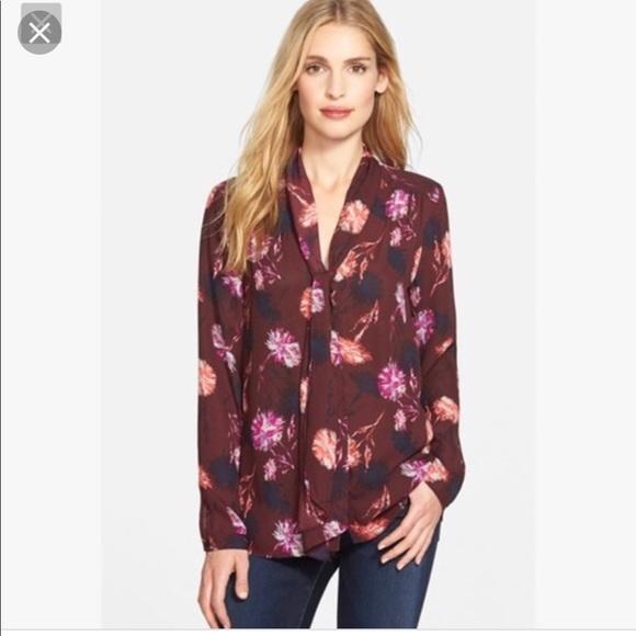 Halogen Tops - Halogen dandelion print blouse